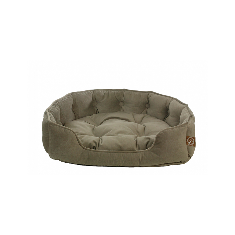Faux Suede Snuggle Bed, Color Grey, Large