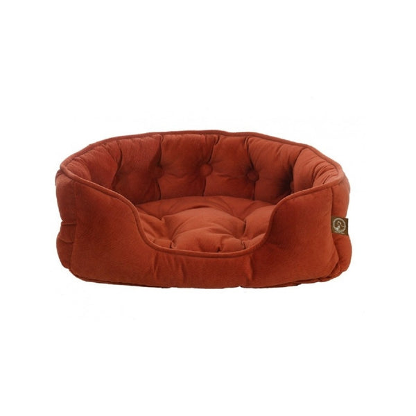Faux Suede Snuggle Bed, Color Orange, Large Colour