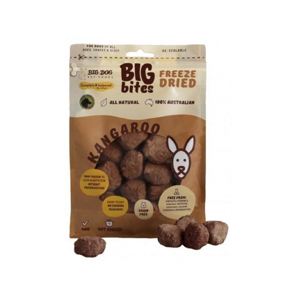 Freeze Dried Kangaroo Big Bites Weight : 490g