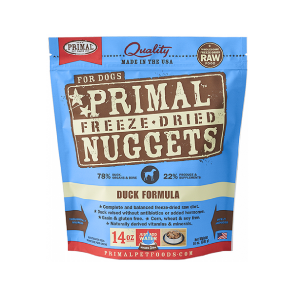 Freeze Dried Duck Nuggets Weight : 14oz