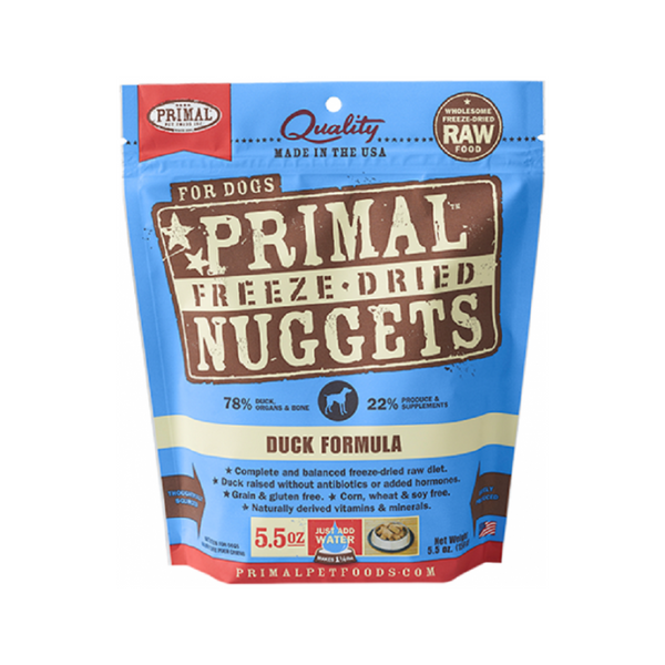 Freeze Dried Duck Nuggets, 5.5oz