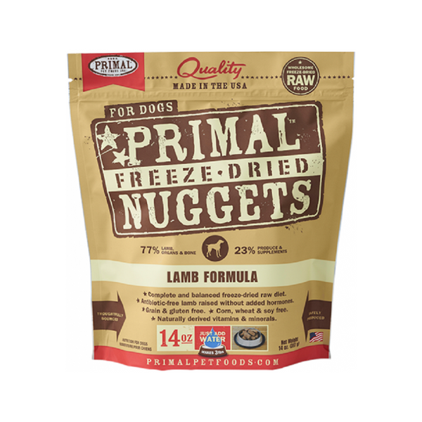 Freeze Dried Lamb Nuggets Weight : 14oz
