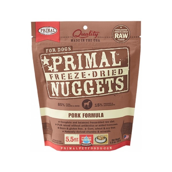 Freeze Dried Pork Nuggets, 5.5oz