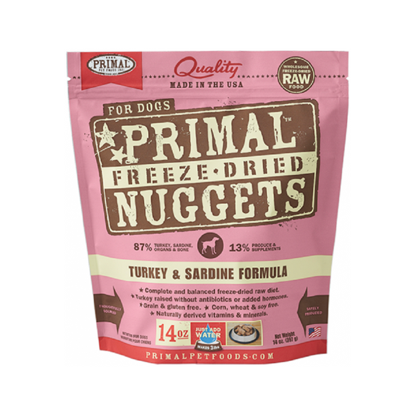 Freeze Dried Turkey & Sardine Nuggets Weight : 14oz