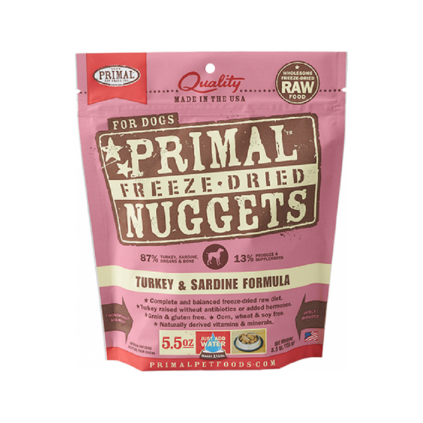 Freeze Dried Turkey & Sardine Nuggets, 5.5oz