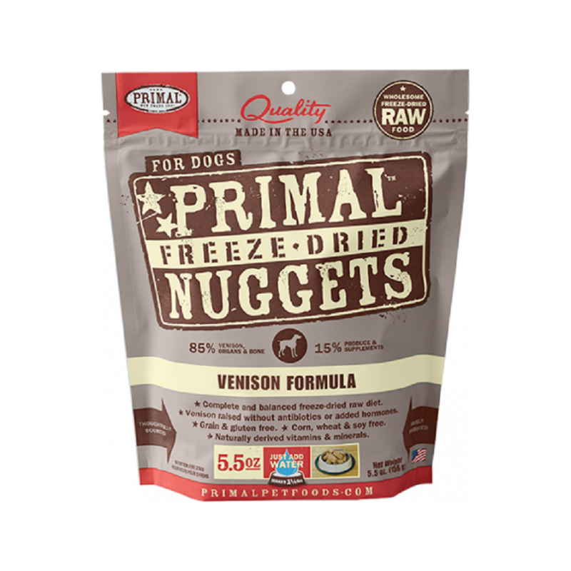 Freeze Dried Venison Nuggets, 5.5oz