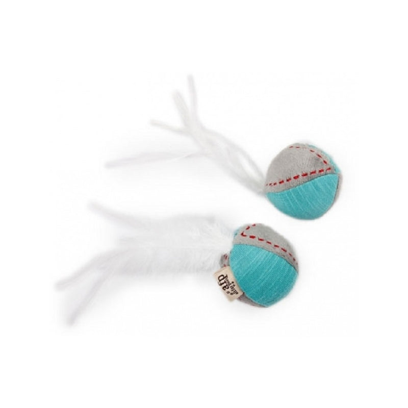 Kitty Feather Ball, Color Turquoise, 2pcs