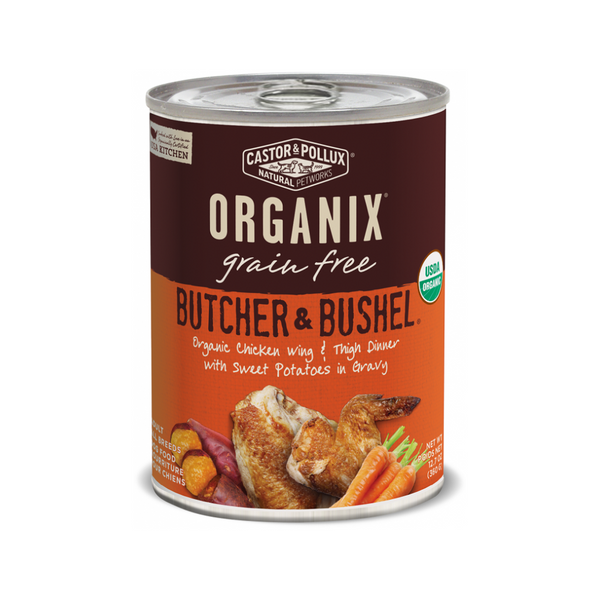 Organix Grain Free Butcher & Bushel Chicken Wing & Thigh Dinner, 12.7oz