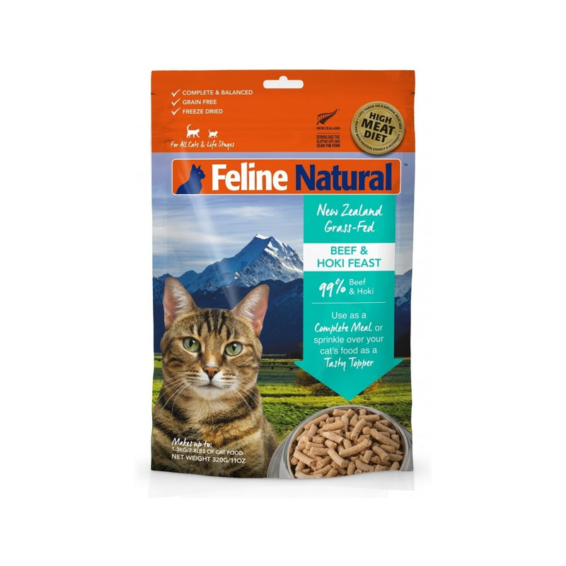 Feline Freeze Dried Beef & Hoki Feast, 320g