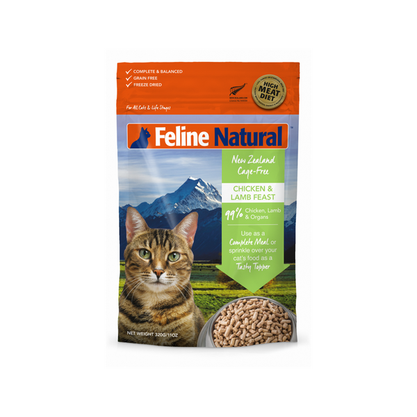 Feline Freeze Dried Chicken & Lamb Feast, 320g