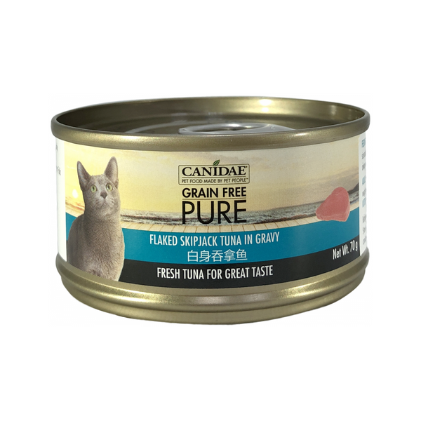 Feline PURE, Flaked Skipjack in Gravy Weight : 70g