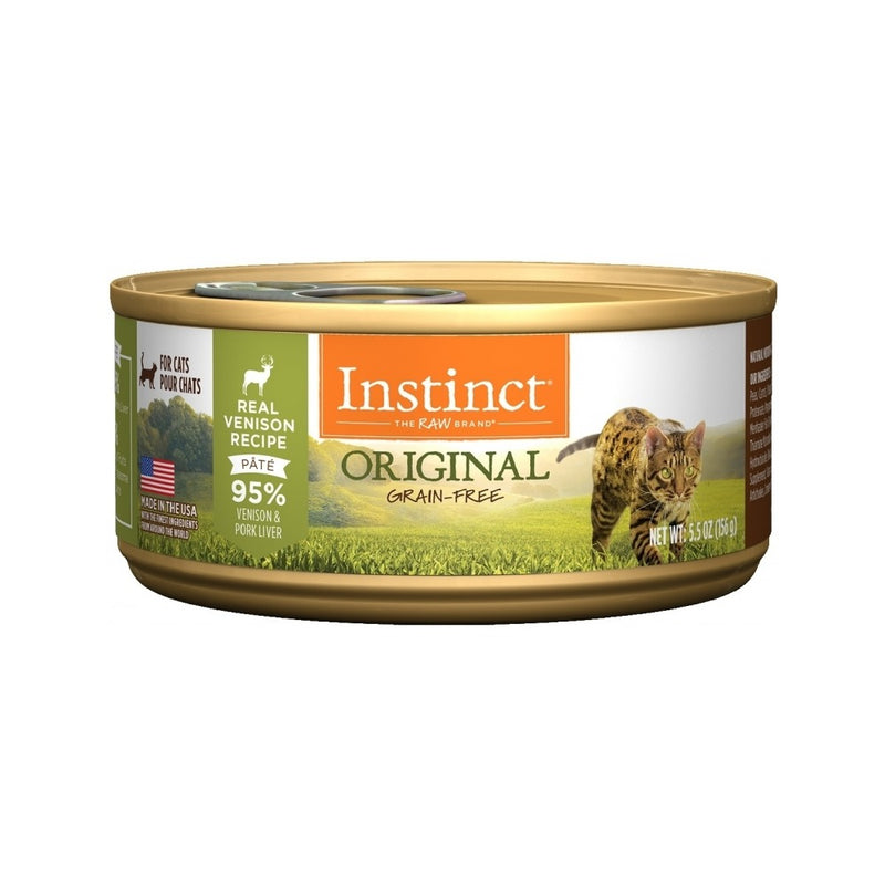 Feline Instinct Original G.F Venison Can, 3oz