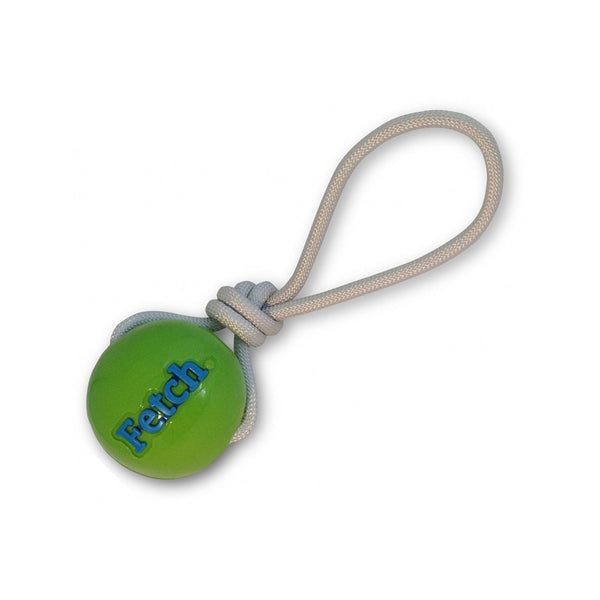 Fetch Ball with Rope, Color: Green