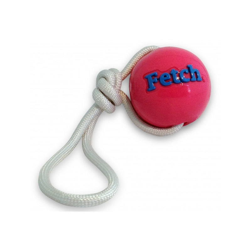 Fetch ball with Rope, Color: Pink