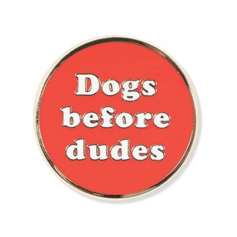 Dogs Before Enamel Pin