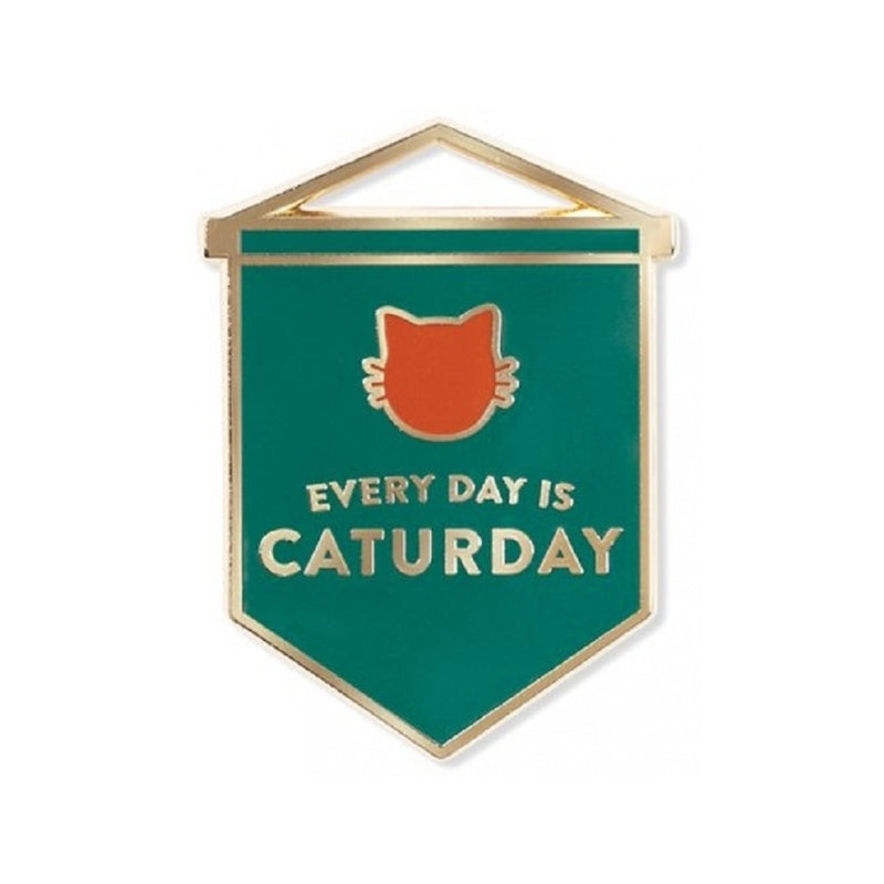 Caturday Enamel Pin