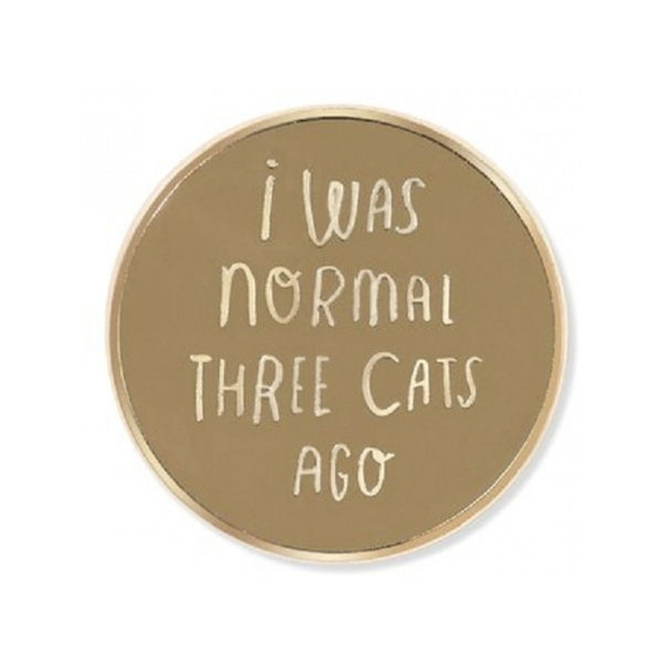 Normal 3 Cats Enamel Pin