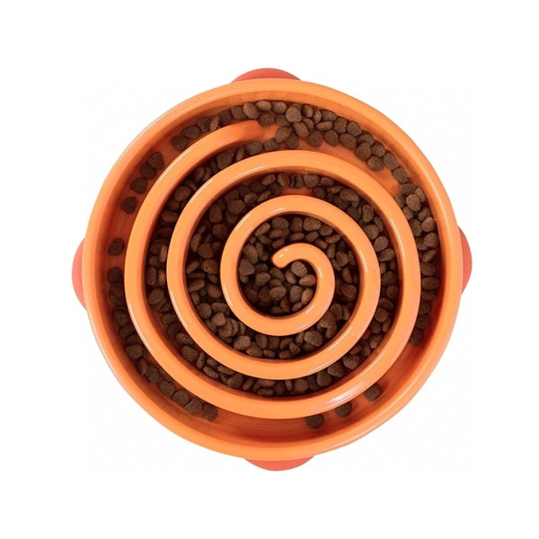 Fun Feeder Slow Bowl Orange, Large
