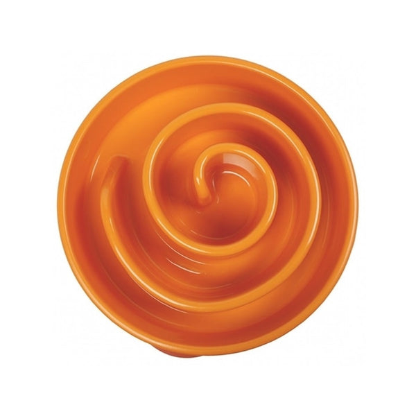 Fun Feeder Slow Bowl Orange Size : Small