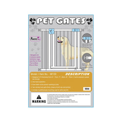Pet Gate with Extra Extensions (67-73/77-83/87-93cm)