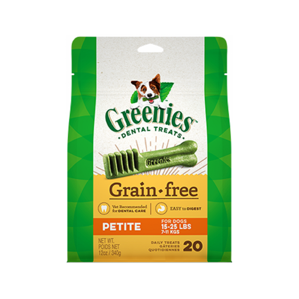 Grain Free Dental Treats, Petite, Count:  20, 12oz