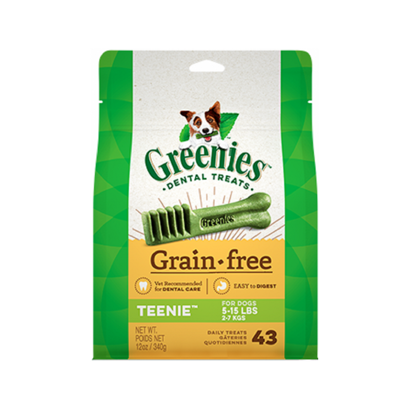 Grain Free Greenies Dental Treats 12oz Size : Teenies, Piece(s) : 43
