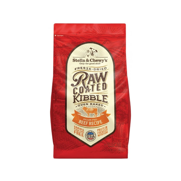 Grass-Fed Beef Raw Coated Kibble, 10lb