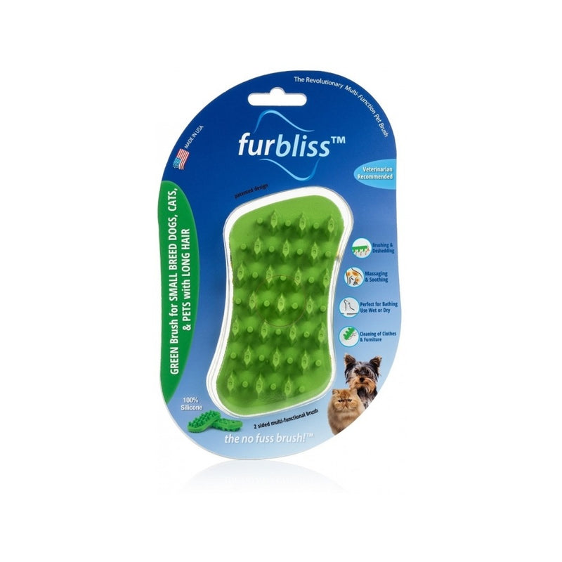 Green brush for Small Pets with Long Hair