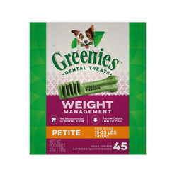 Weight Management Dental Chews, Petite, Count:  45, 27oz
