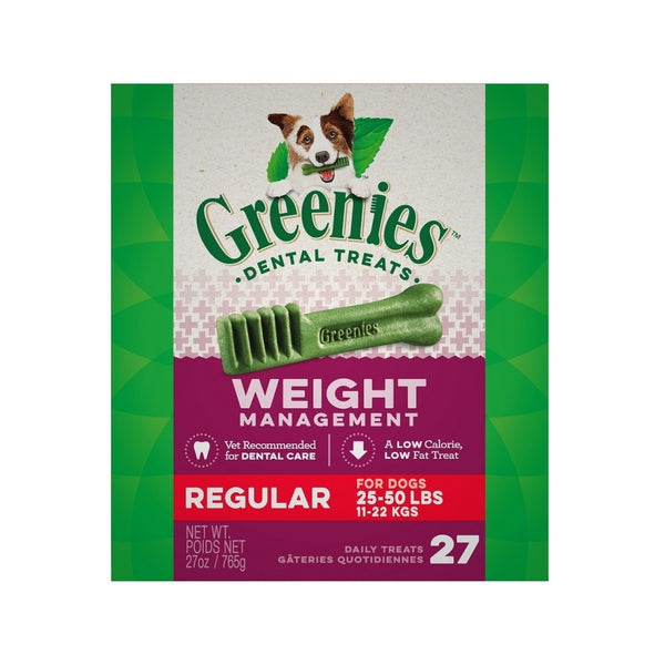 Weight Management Dental Treats for Dogs, Regular, 27oz 27ct
