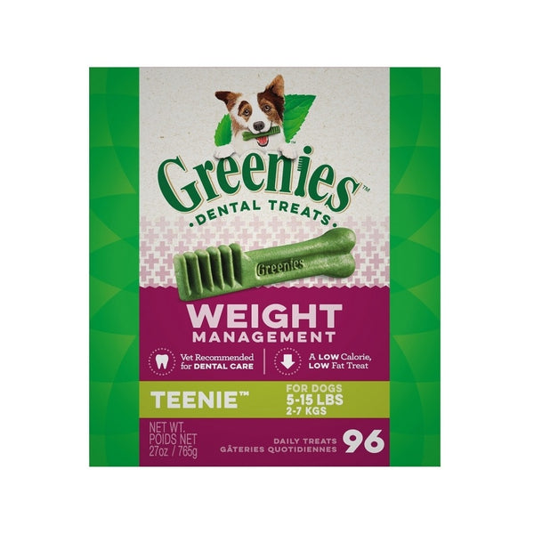 Weight Management Dental Treats for Dogs, Tennies, 27oz 96ct