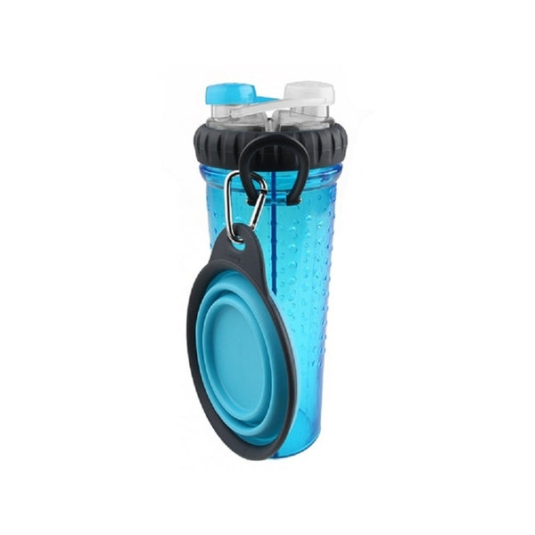 H-Duo with Travel Cup, Color Blue, 24oz/720ml