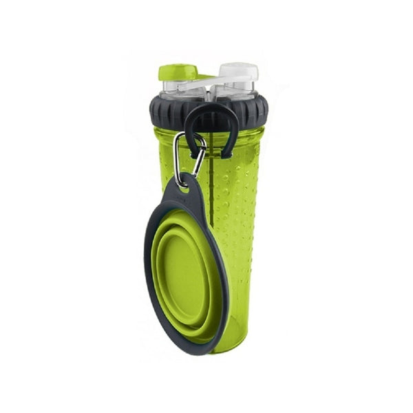 H-Duo with Travel Cup, Color Green, 24oz/720ml
