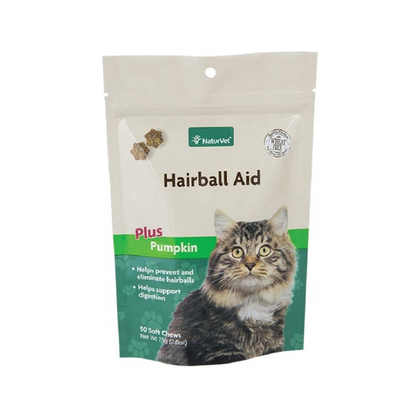 Feline Hairball Aid plus Pumpkin Count, 50ct