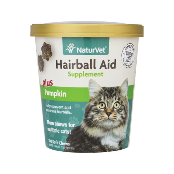 Feline Hairball Aid plus Pumpkin Count, 100 Ct