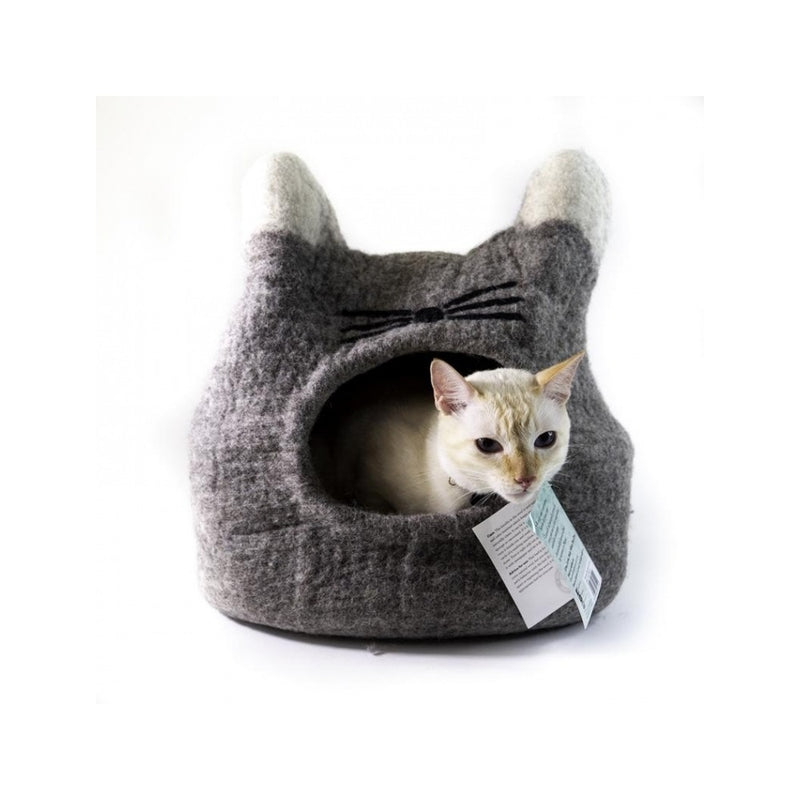 Natural Cat Face Cave, Color: Grey