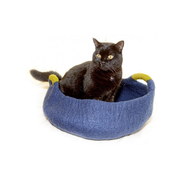 Handle Basket, Color Navy, 20""