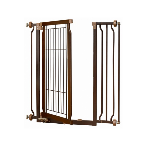 Hand-Free Pet Gate 72-94.5cm, Color: Coffee Bean