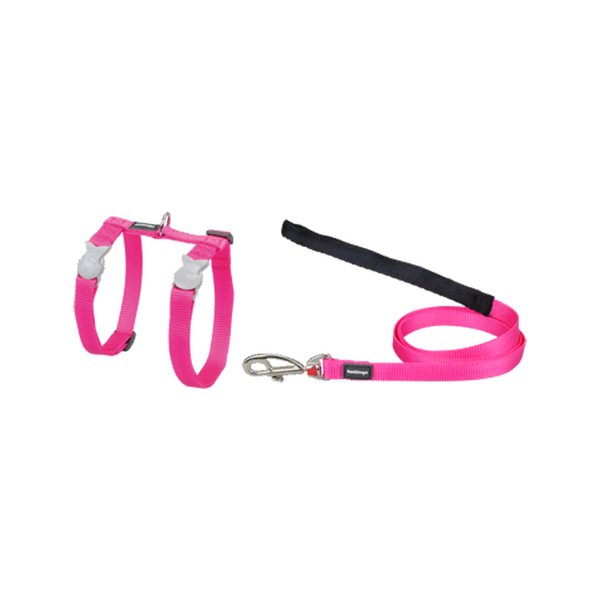 Nylon Cat Collars, Harness & Lead - Hot Pink Harness & Lead s