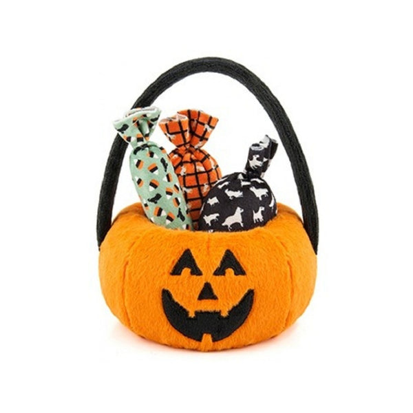 Halloween Pumpkin Basket Plush Toy
