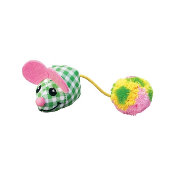Pom Tail Mouse with Catnip Color : Assorted