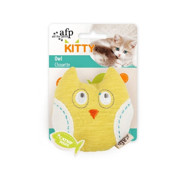 Kitty Owl Catnip Toy, Color: Yellow