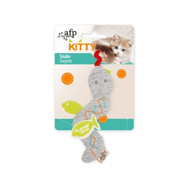 Kitty Snake Catnip Toy, Color: Grey