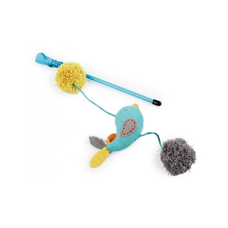 Kitty Wand Bird, Color: Turquoise