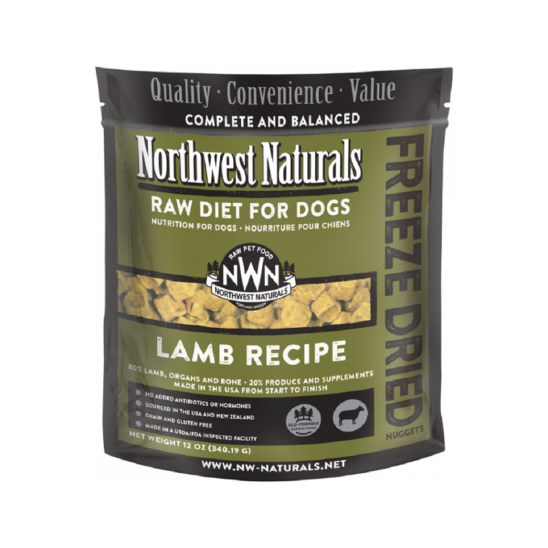 Freeze Dried Lamb Nuggets for Dogs, 12oz