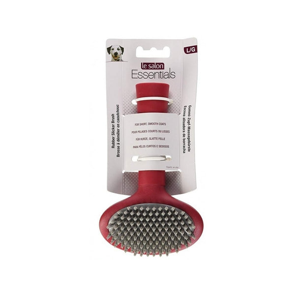 Le Salon Rubber Slicker Brush for Dogs Size : Large
