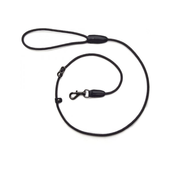 "Leader Leash Metropolitan Collection, Color Charcoal, Length 49"" 5mm"