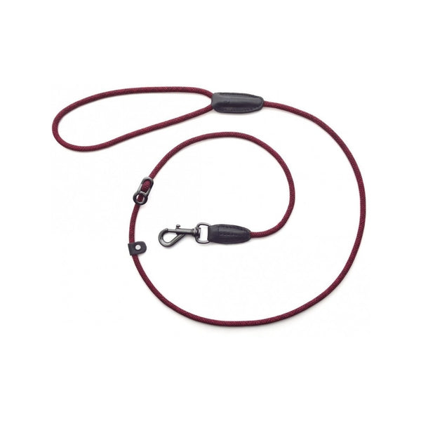 "Leader Leash Metropolitan Length, Color Red, 49"" 5mm"