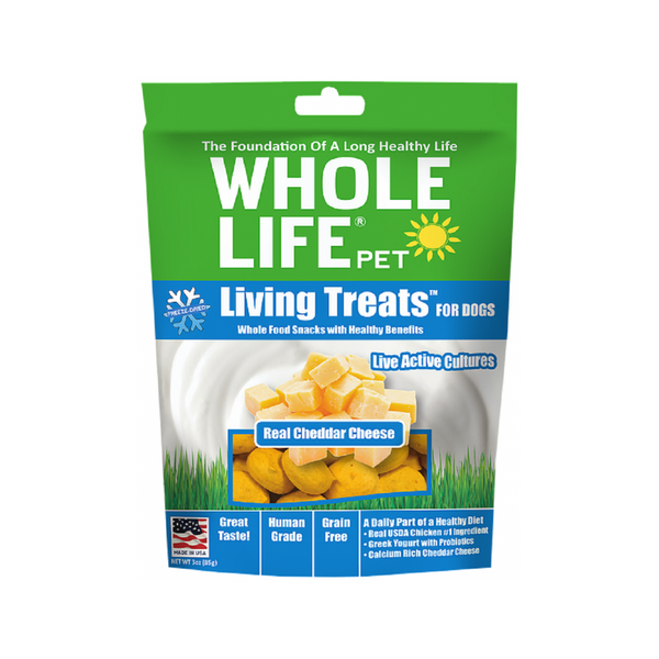 Living Treats Real Cheddar Cheese, 3oz