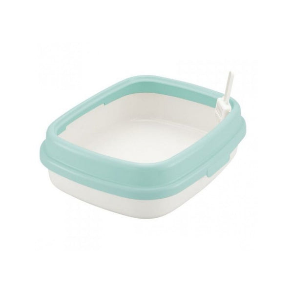 Corole Litter Pan w/ Low Rim 55, Color: Eco Green